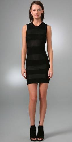 Alexander Wang Shadow Stripe Mini Dress