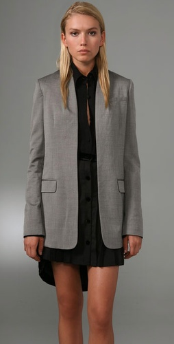 Alexander Wang Collarless Blazer With Cro