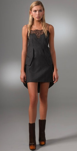 Alexander Wang Tank Tailcoat Dress With L