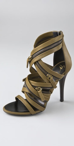 Balmain Giuseppe Zanotti for Balmain Zipper Sandals from shopbop.com