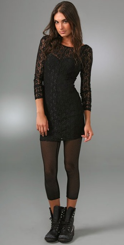 Barlow Lace Ponte Dress