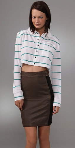 Barlow Crop Polo Top
