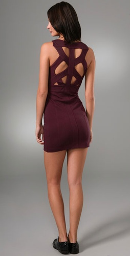 Barlow Lattice Back Mini Dress