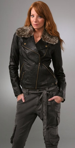 Bb Dakota Manderson Leather Jacket