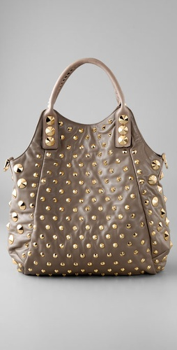 Be & D Garbo Tote With Gold Hardware