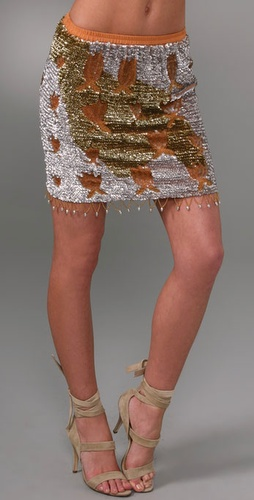 Beyond Vintage Sequin Skirt
