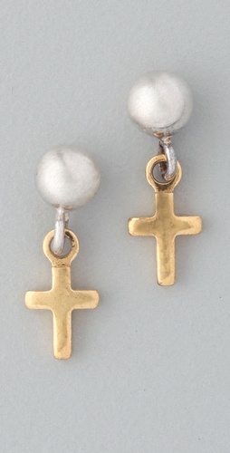 Bing Bang Victorian Cross Earrings