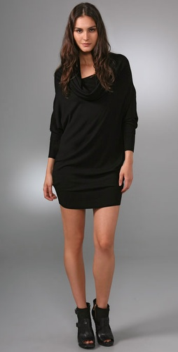 Bird by Juicy Couture Draped Neck Sweater Dress