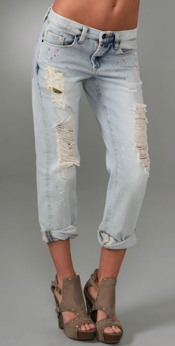 Blank Denim Cropped Boyfriend Jeans