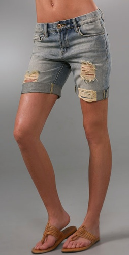 Blank Denim Boyfriend Shorts