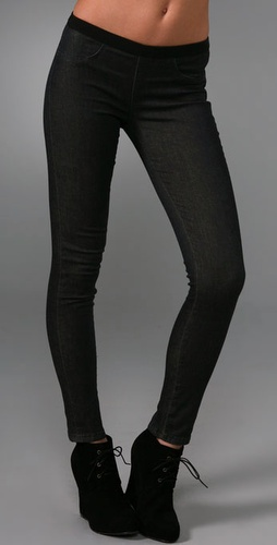 Blank Denim Pull On Denim Leggings