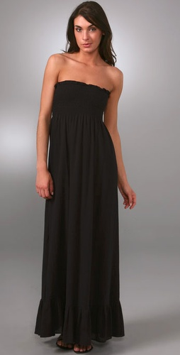 Bop Basics Strapless Smock Long Dress