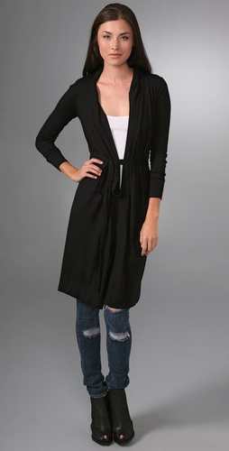 Bop Basics Cashmere Hooded Duster Sweater