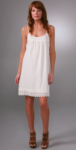 Brochu Walker Lace Trim Slip Dress