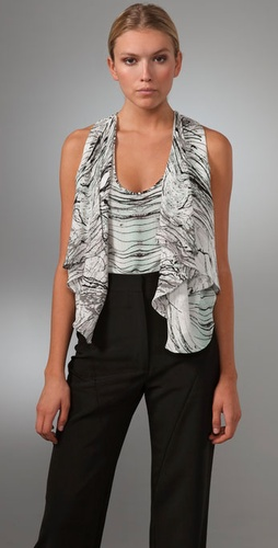 Brian Reyes Sleeveless Draped Tunic