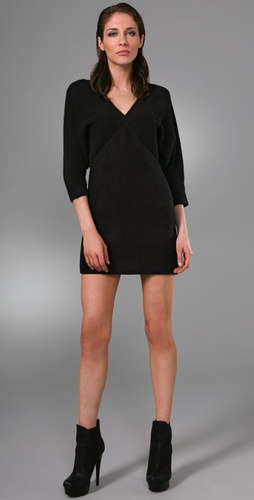 Catherine Malandrino Hexagon Ribbed Dress
