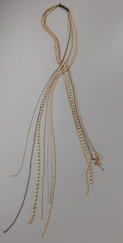 Victorian Hippie Rhinestone & Mixed Chain Necklace from shopbop.com