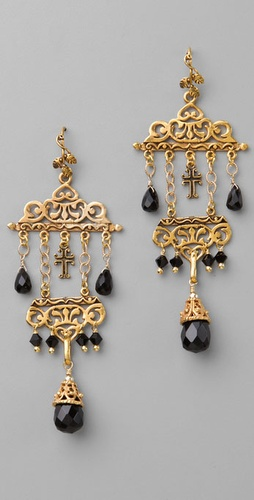Victorian Hippie Cross Drop Earrings from shopbop.com