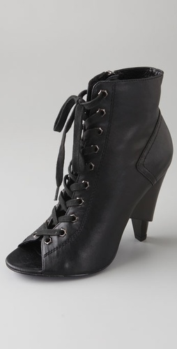 Charlie My Love Cleo Lace Up Booties