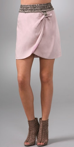 Charlotte Ronson Studded Drape Skirt from shopbop.com