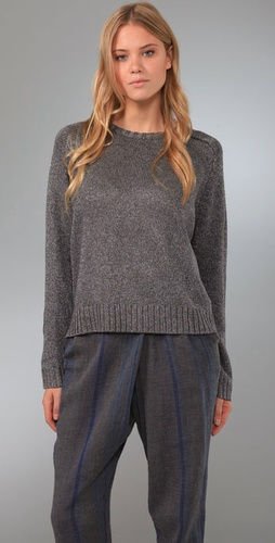 Charlotte Ronson Long Sleeve Crew Sweater