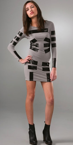 Cheap Monday Duct Tape Body Con Dress