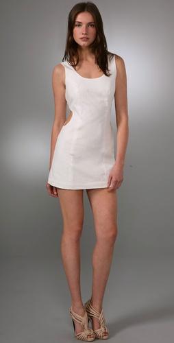 Caroline Hedaya Linen Cutout Dress