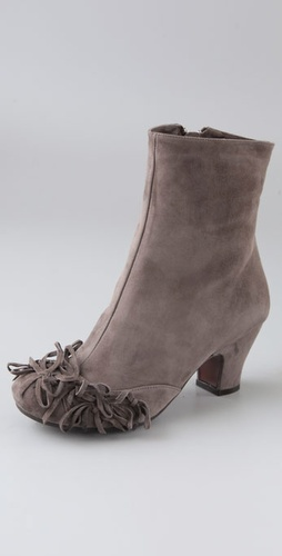 Chie Mihara Shoes Jaeta Suede Booties Wit