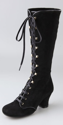 Chie Mihara Shoes Quechu Lace Up Suede Bo