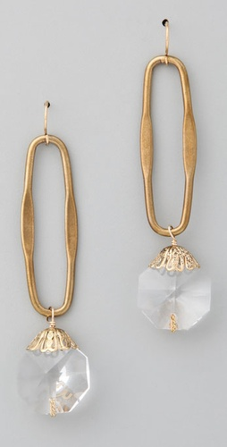 Citrine By The Stones Crystal Drop Earrin