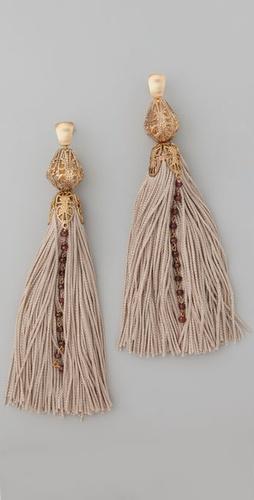 Citrine by the Stones Tassel Rosary Earrings