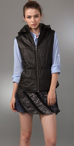 Dallin Chase Diddy Puffy Leather Vest