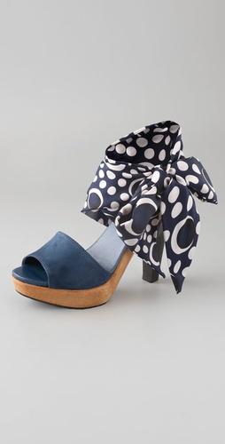 Diane von Furstenberg Flama Tie Scarf Platform Sandals