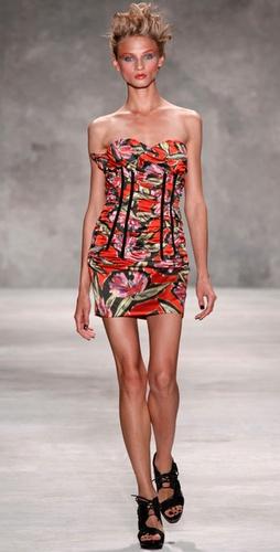 Derek Lam Strapless Corset Dress