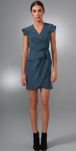 Derek Lam Flutter Sleeve Dress With Side