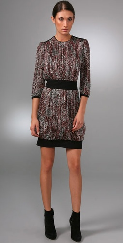 Derek Lam 3/4 Sleeve Dress With Gathered