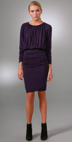 Derek Lam Draped Long Sleeve Dress