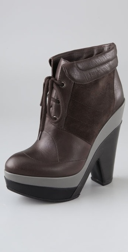 Derek Lam Cassandre Lace Up Clog Booties