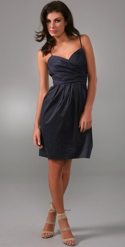 Dkny Sleeveless Wrap Front Dress