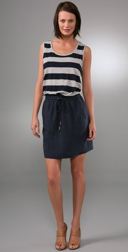 Dkny Striped Tank Dress