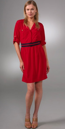 Dkny 3/4 Sleeve Shirtdress