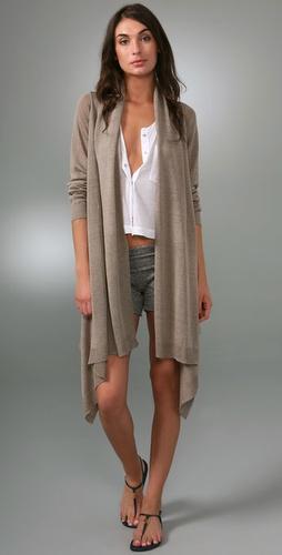 DKNY Linen Long Sleeve Cozy Cardigan