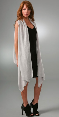 DKNY Sleeveless Linen Cozy Cardigan