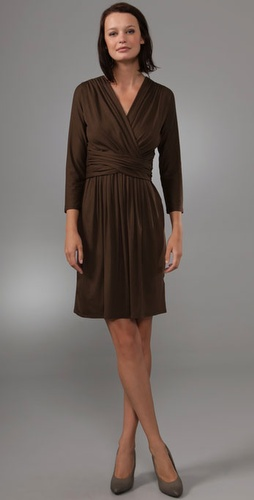 Dkny Wrap Dress With Cummerbund