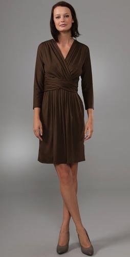 DKNY Wrap Dress with Cummerbund