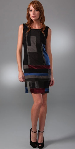 Dkny Colorblock Mosaic Dress