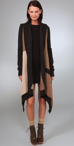 Dkny Pure Dkny Long Sleeve Cozy Cardigan