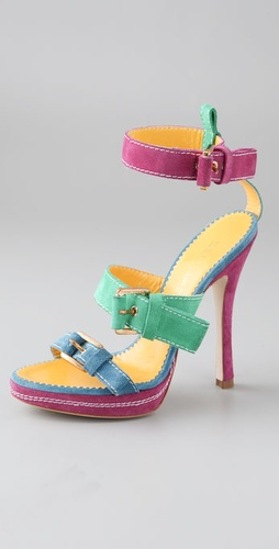 DSQUARED2 Two Band Suede Sandals