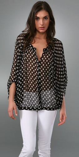 Elise Polka Dot Blouse - Elizabeth and James from shopbop.com