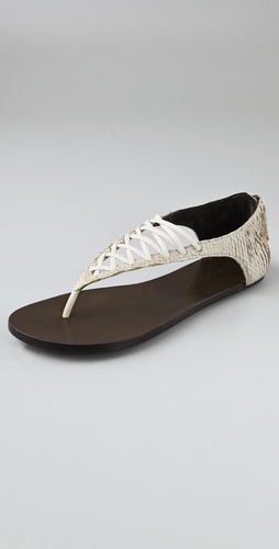 Elizabeth And James Slam Lace Up Flat San